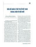 Về quản lý đô thị ở Việt Nam trong thời kỳ đổi mới
