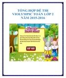 Tổng hợp đề thi Violympic Toán lớp 2 năm 2015-2016