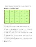 Đề thi Violympic Toán học lớp 3 vòng 5 năm 2015-2016