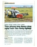 Đồng bằng Sông Cửu Long: Tiên phong ứng dụng công nghệ mới vào nông nghiệp