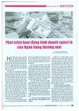 Phát triển hoạt động kinh doanh ngoại tệ của ngân hàng thương mại