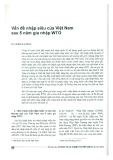 Vấn đề nhập siêu của Việt Nam sau 5 năm gia nhập WTO