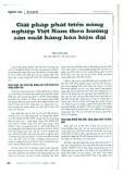 Giải pháp phát triển nông nghiệp Việt Nam theo hướng sản xuất hàng hóa hiện đại