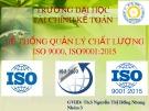 Bộ tiêu chuẩn ISO 9000, 9001:2015