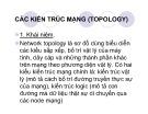 Bài giảng Các kiến trúc mạng (Topology)