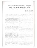 Phát triển thị trường tài chính khu vực nông thôn Việt Nam