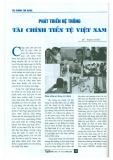 Phát triển hệ thống tài chính tiền tệ Việt Nam
