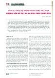 Tái cấu trúc hệ thống ngân hàng Việt Nam - Những vấn đề đặt ra và giải pháp thực hiện