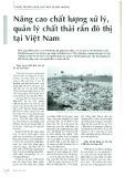 Nâng cao chất lượng xử lý, quản lý chất thải rắn đô thị tại Việt Nam