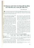 Về năng lực cạnh tranh và năng suất lao động của Việt Nam sau 5 năm gia nhập WTO