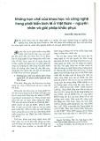 Những hạn chế của khoa học và công nghệ trong phát triển kinh tế ở Việt Nam - Nguyên nhân và giải pháp khắc phục