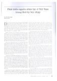 Phát triển nguồn nhân lực ở Việt Nam trong thời kỳ hội nhập