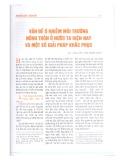 Vấn đề ô nhiễm môi trường nông thôn ở nước ta hiện nay và một số giải pháp khắc phục