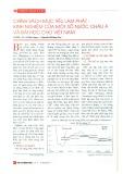 Chính sách mục tiêu lạm phát - Kinh nghiệm của một số nước châu Á và bài học cho Việt Nam