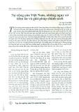 Nợ công của Việt Nam, những nguy cơ tiềm ẩn và giải pháp chính sách