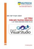 Bài tập thực hành Lập trình trên môi trường Windows (Lập trình Windows Form với C#): Lịch trình - ĐH Công nghệ Tp.HCM