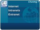 Bài giảng Nhập môn hệ thống thông tin - Bài 7 (tt): Internet - Intranets - Extranet