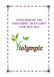 Tổng hợp đề thi Violympic Toán lớp 5 năm 2015-2106
