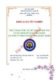 Khóa luận tốt nghiệp: Thực trạng công tác kế toán doanh thu và xác định kết quả kinh doanh tại công ty TNHH thương mại Quang Thiện