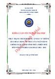 Khóa luận tốt nghiệp Kinh tế và Phát triển: Thực trạng thẩm định dự án đầu tư thông qua hoạt động ủy thác của Ngân hàng chính sách xã hội tỉnh Thừa Thiên Huế đối với Hộ nghèo giai đoạn 2013-2015