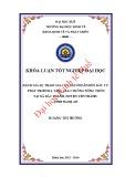 Khóa luận tốt nghiệp Kinh tế và phát triển: Đánh giá sự tham gia của người dân đến đầu tư phát triển hạ tầng giao thông nông thôn tại xã Bắc Thành, huyện Yên Thành, tỉnh Nghệ An