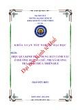 Khóa luận tốt nghiệp Kinh tế và phát triển: Hiệu quả kinh tế sử dụng đất canh tác ở Phường Hương Chữ, thị xã Hương Trà, tỉnh Thừa Thiên Huế