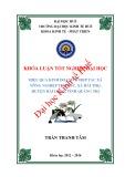 Khóa luận tốt nghiệp Kinh tế phát triển: Hiệu quả kinh doanh ở HTX nông nghiệp Thọ Bắc, xã Hải Thọ, huyện Hải Lăng, tỉnh Quảng Trị