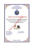 Khóa luận tốt nghiệp: Thực trạng công tác kiểm tra, thanh tra thuế TNDN tại chi cục Thuế Thị xã Hương Trà