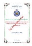 Khóa luận tốt nghiệp: Đánh giá hiệu quả kinh tế sản xuất lúa ở xã Hưng Trung, huyện Hưng Nguyên, tỉnh Nghệ An
