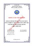 Khóa luận tốt nghiệp: Đánh giá rủi ro tín dụng tại Ngân hàng Nông nghiệp và Phát triển Nông thôn Việt Nam chi nhánh Nam sông Hương Thừa Thiên Huế