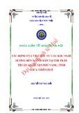 Khóa luận tốt nghiệp: Tác động của việc đầu tư các khu nghỉ dưỡng đến người dân tại thị trấn Thuận An, huyện Phú Vang, tỉnh Thừa Thiên Huế
