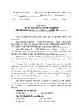 Mẫu tờ trình về việc thành lập Ủy ban bầu cử đại biểu Hội đồng nhân dân xã