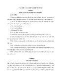 Câu hỏi và bài tập nghiệp vụ TDNH