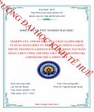 Khóa luận tốt nghiệp Quản trị kinh doanh: Nghiên cứu ảnh hưởng của chất lượng dịch vụ ngân hàng điện tử đến sự hài lòng và lòng trung thành của khách hàng cá nhân tại ngân hàng TMCP Công Thương Việt Nam (Vietinbank) Chi nhánh Thừa Thiên Huế