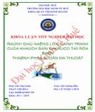 Khóa luận tốt nghiệp: Đánh giá năng lực cạnh tranh của Khách sạn Dakruco tại địa bàn thành phố Buôn Ma Thuột
