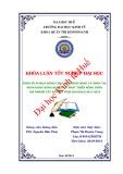 Khóa luận tốt nghiệp: Phân tích hoạt động cho vay khách hàng cá nhân tại Ngân hàng Nông nghiệp và Phát triển Nông thôn - Chi nhánh Tây Sơn - Hà Tĩnh giai đoạn 2011-2013