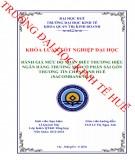 Khóa luận tốt nghiệp Quản trị kinh doanh: Đánh giá mức độ nhận biết thương hiệu ngân hàng TMCP Sài Gòn Thương Tín - chi nhánh Huế (Sacombank Huế)