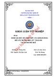 Khóa luận tốt nghiệp: Đánh giá mức độ nhận biết của khách hàng đối với thương hiệu FPT Telecom tại thành phố Huế