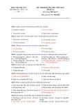 Đề thi kiểm tra hết môn Ký sinh trùng - Học viện quân y (Mã đề 12)