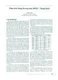 Phân tích dòng thương mại ASEAN - Trung Quốc