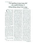 Tín ngưỡng trong tang chế của người Khơme ở đồng bằng Sông Cửu Long