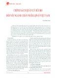 Chính sách quản lý rủi ro đối với ngành chăn nuôi lợn ở Việt Nam
