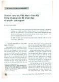 20 năm hợp tác Việt Nam - Hoa Kỳ trong những vấn đề nhân đạo và quyền con người