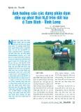 Ảnh hưởng của các dạng phân đạm đến sự phát thải N2O trên đất lúa ở Tam Bình - Vĩnh Long