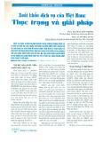 Xuất khẩu dịch vụ của Việt Nam: Thực trạng và giải pháp