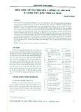 Dẫn liệu về tài nguyên lưỡng cư, bò sát ở vùng Tây Bắc tỉnh Cà Mau