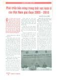 Phát triển bền vững trong lĩnh vực kinh tế của Việt Nam giai đoạn 2005 - 2010