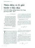 Nhận diện và lý giải hành vi bầy đàn trên thị trường chứng khoán Việt Nam giai đoạn 2002 - 2011