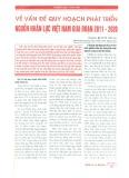 Vấn đề quy hoạch phát triển nguồn nhân lực Việt Nam giai đoạn 2011 - 2020