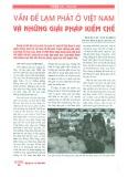 Vấn đề lạm phát ở Việt Nam và những giải pháp kiềm chế